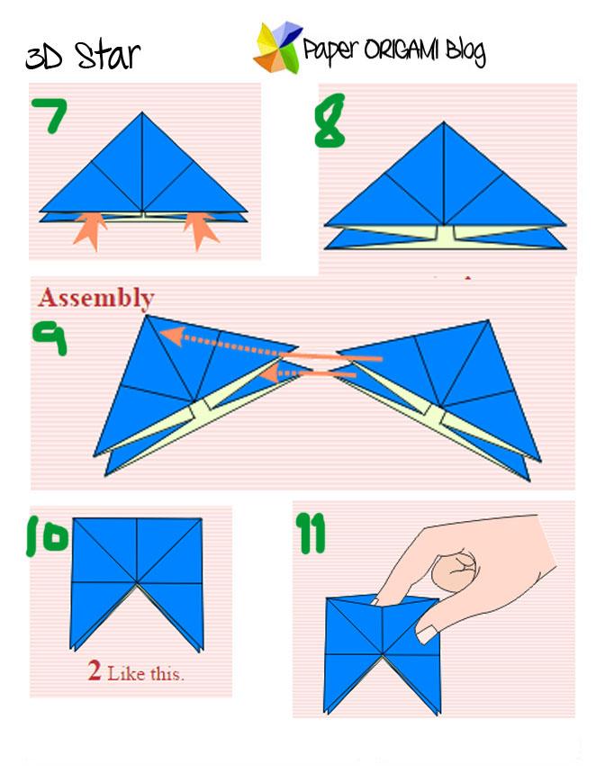 3D Star Modular Origami