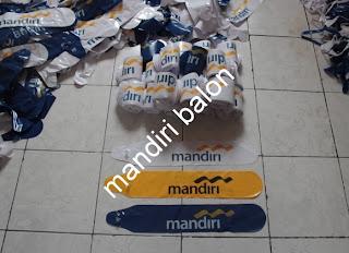 BALON TEPUK Logo BANK MANDIRI