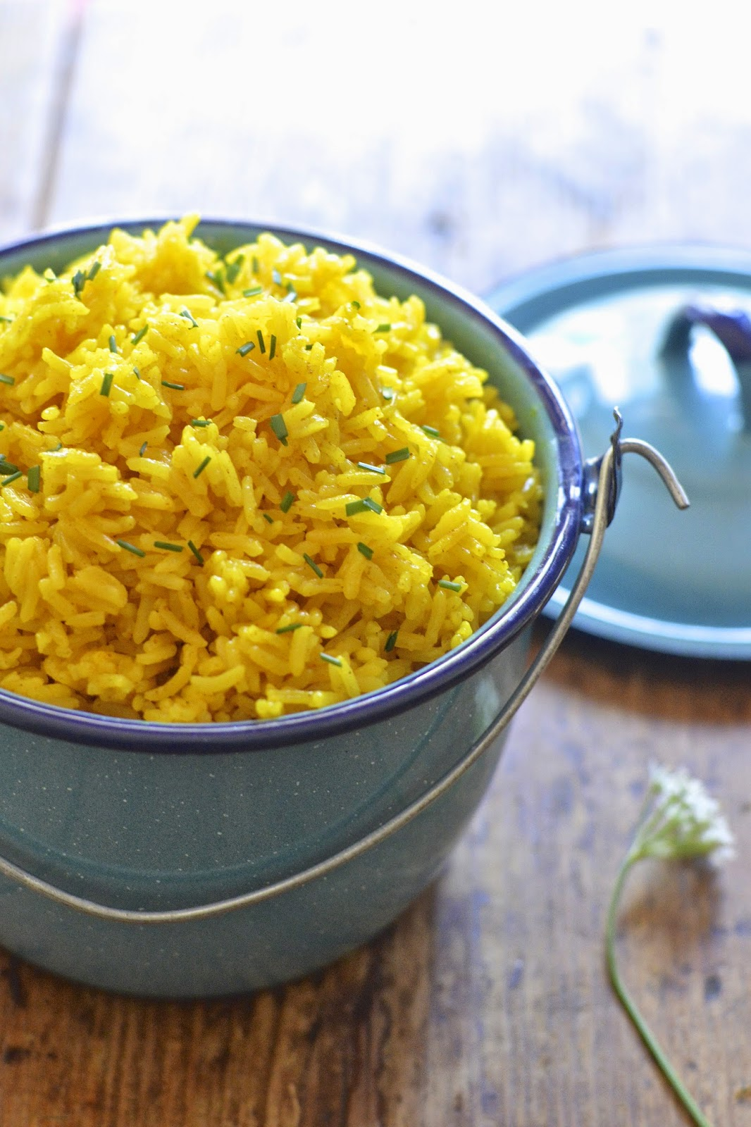 This easy yellow rice is flavored with turmeric and is ready in under 20 minutes