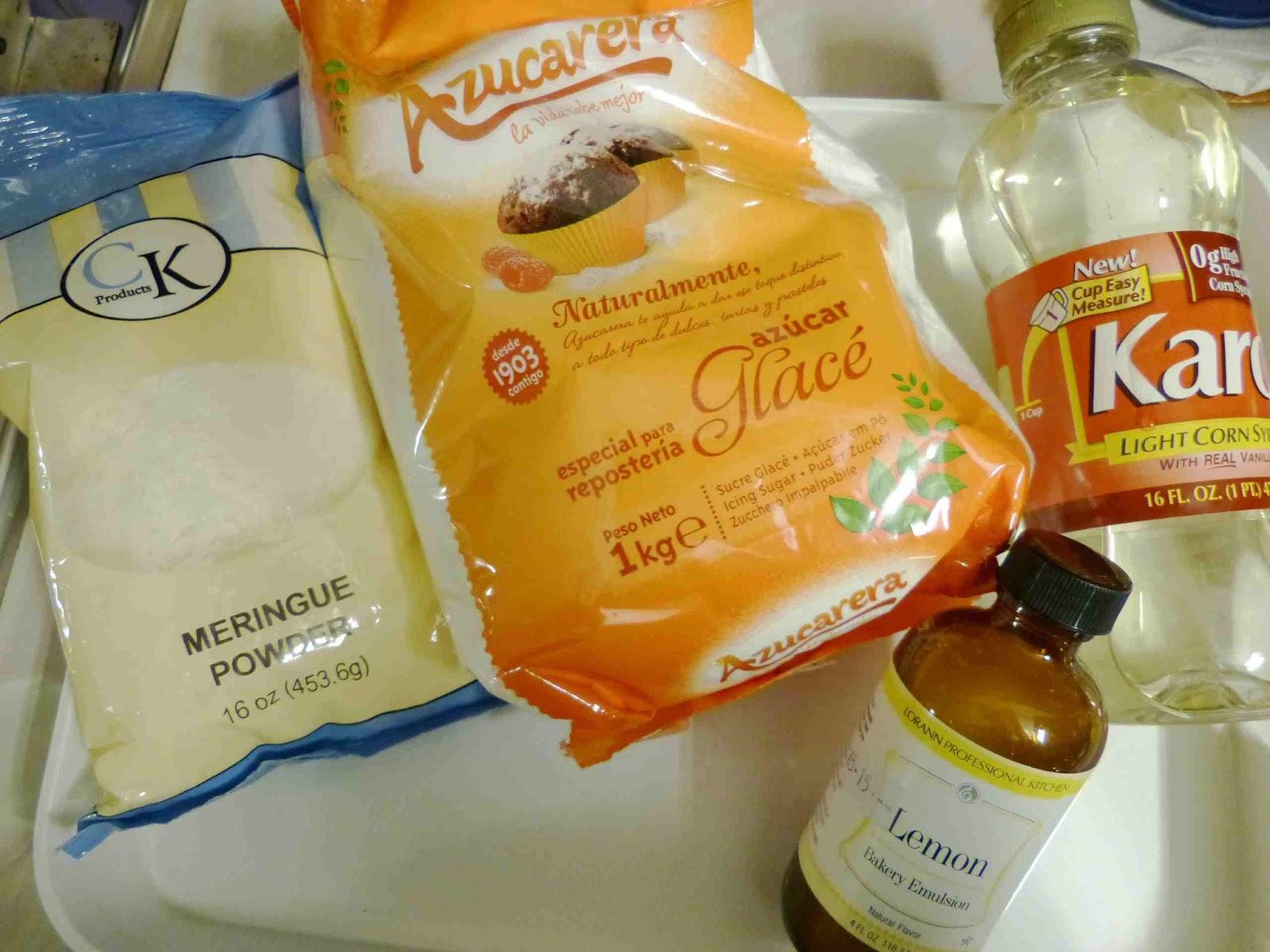 Ingredientes glasa para decorar galletas