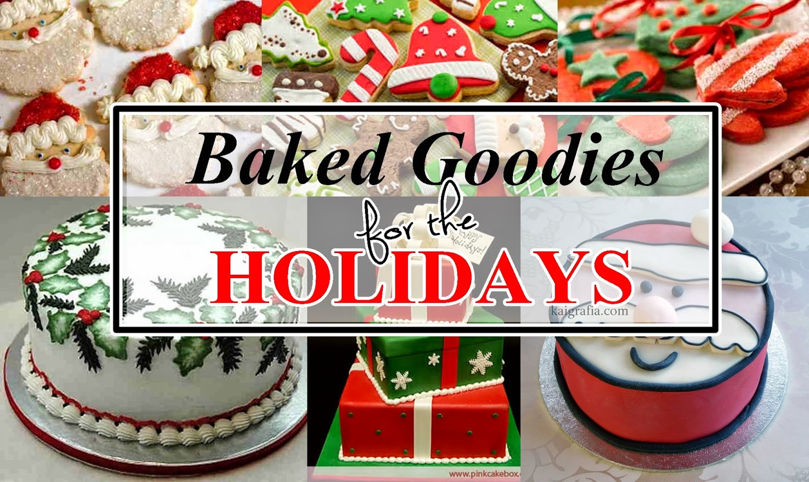 baked goodies for the holidays