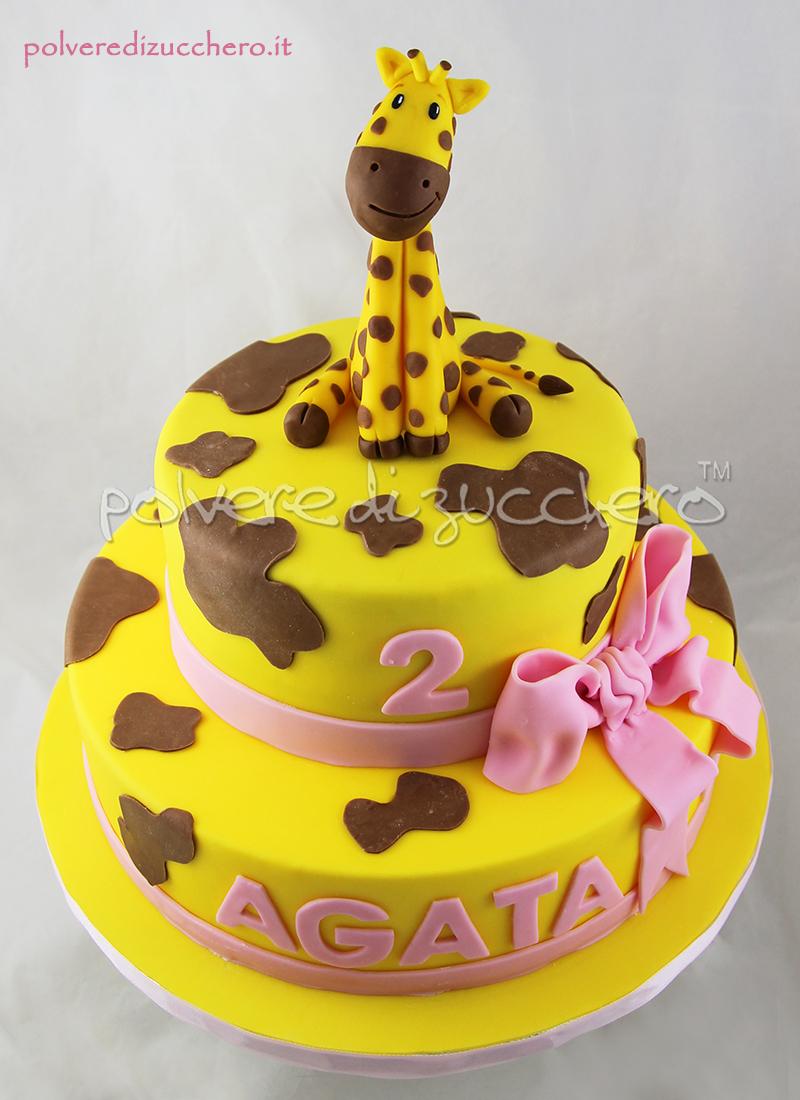 Estremamente Torta giraffa in pasta di zucchero per il 2° compleanno di una  OS85