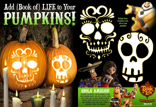 Book of Life Pumpkin Stencils