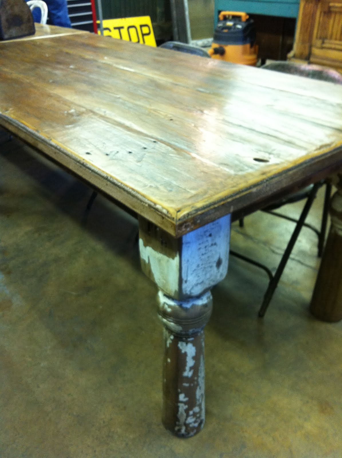 Handmade Table From Reclaimed Wood