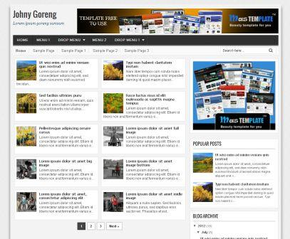 Johny Goreng Blogger Template