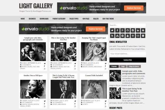 Light gallery blogger template best blogger themes professional light gallery blogger template fbccfo Gallery