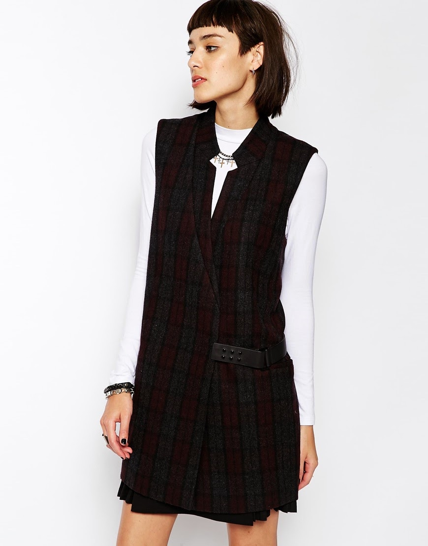 dark tartan sleeveless dress