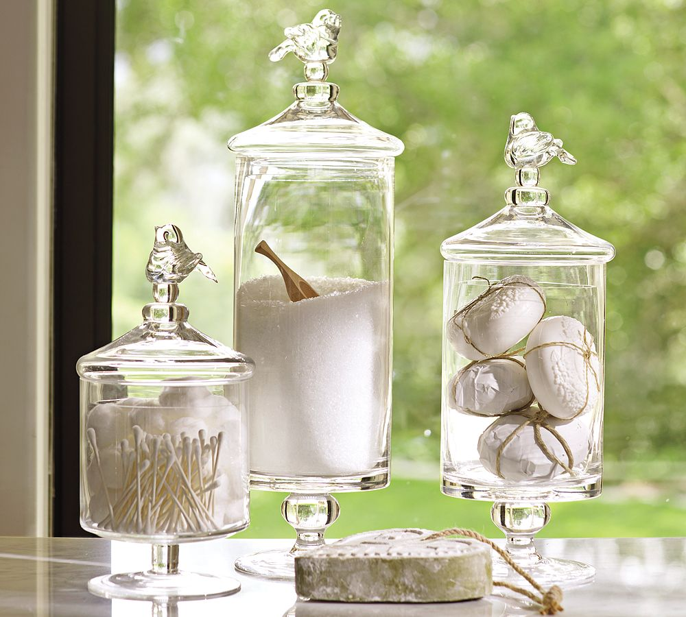 Decorar Un Baño Sencillo:Glass Bathroom Jars