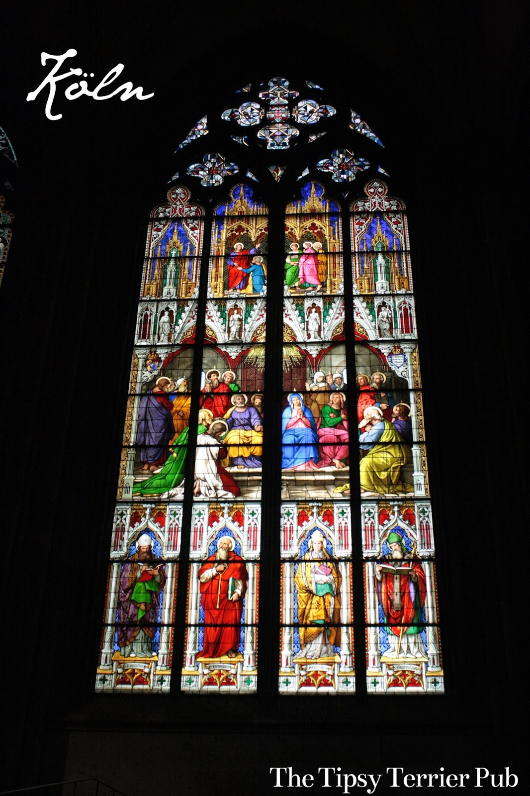 Gothic Stained Glass - tipsyterrier.blogspot.com
