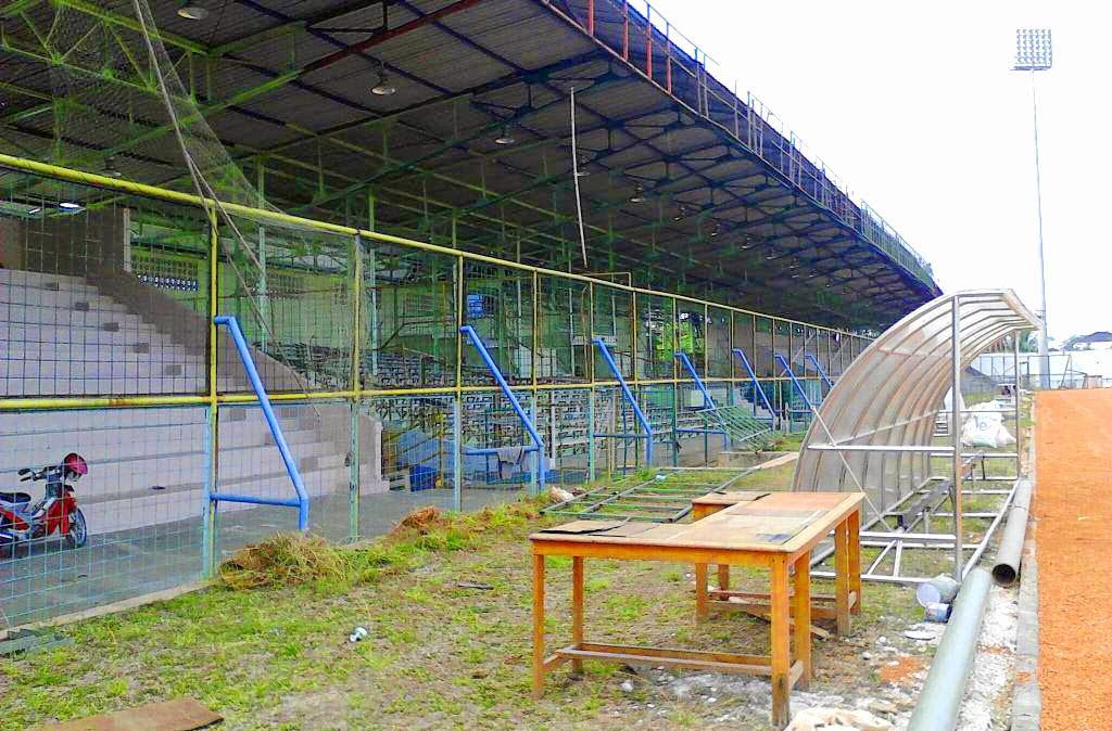 gambar terbaru kondisi Stadion 17 Mei  Banjarmasin