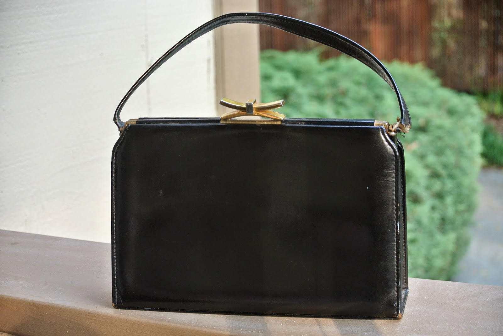Vintage Saks Fifth Avenue Pocketbook, Black, Gold Hardware