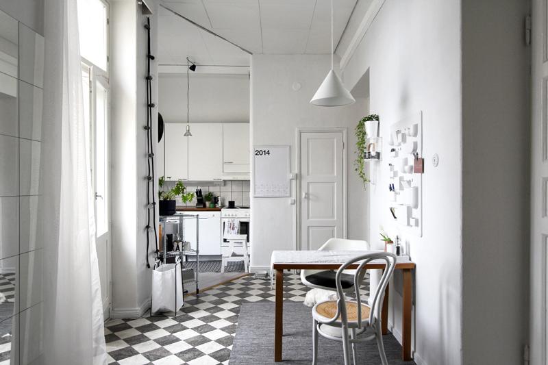 Grey Minimal Living Room