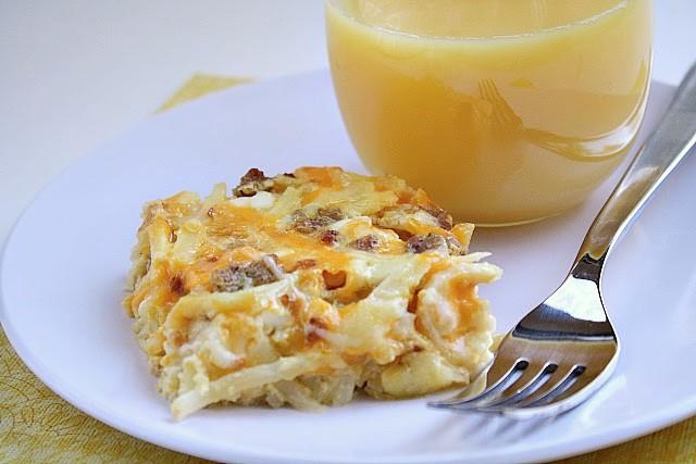 3-cheese breakfast casserole