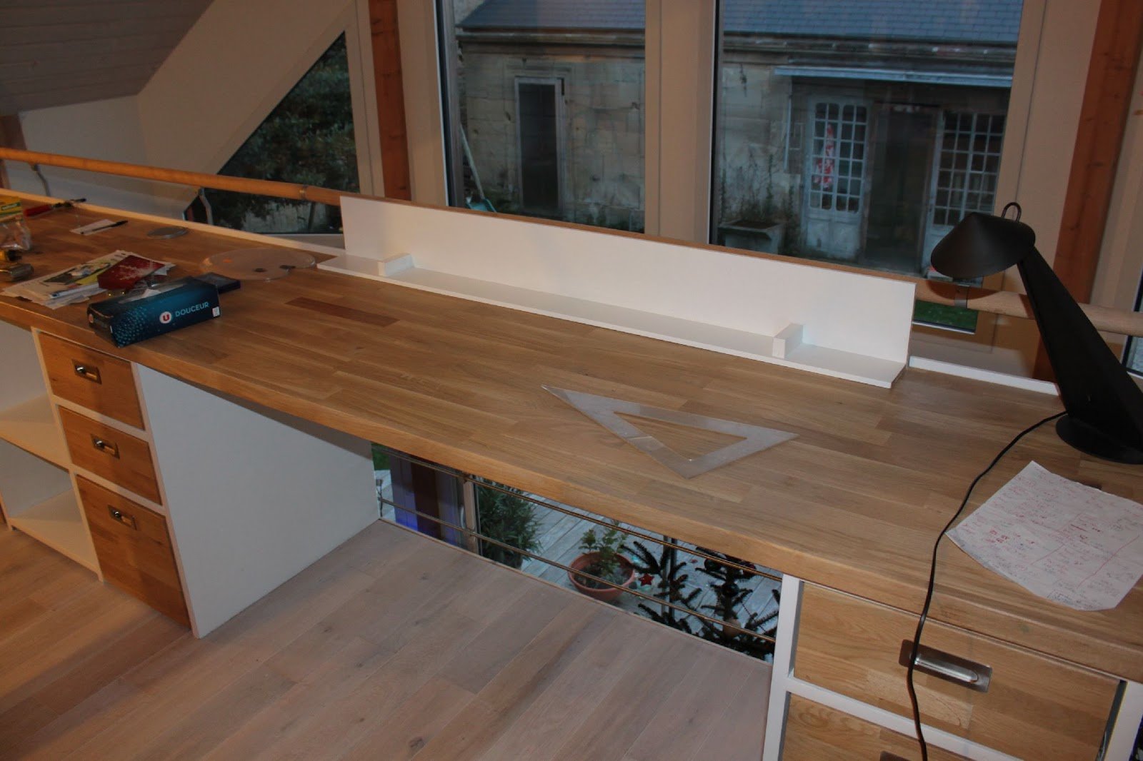 La cabane en bois de luc sur mer finition phase bureau double