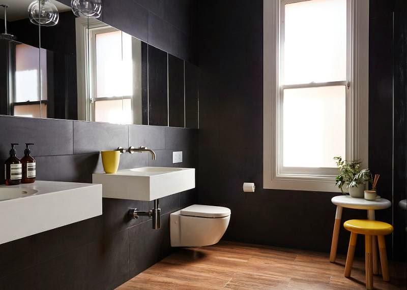 Semaine 25 sur les blogs d co for Salle de bain noir et bois