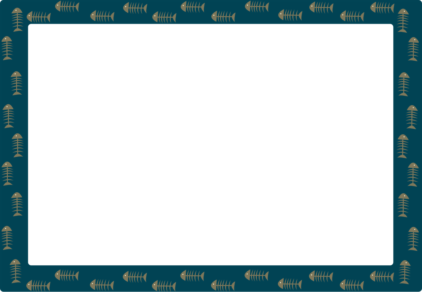 Free Cat Images: free fishbone frame and border for cat blog design ...