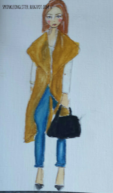 Sprinkle On Glitter Blog// fallfashion// sleeveless camel color coat