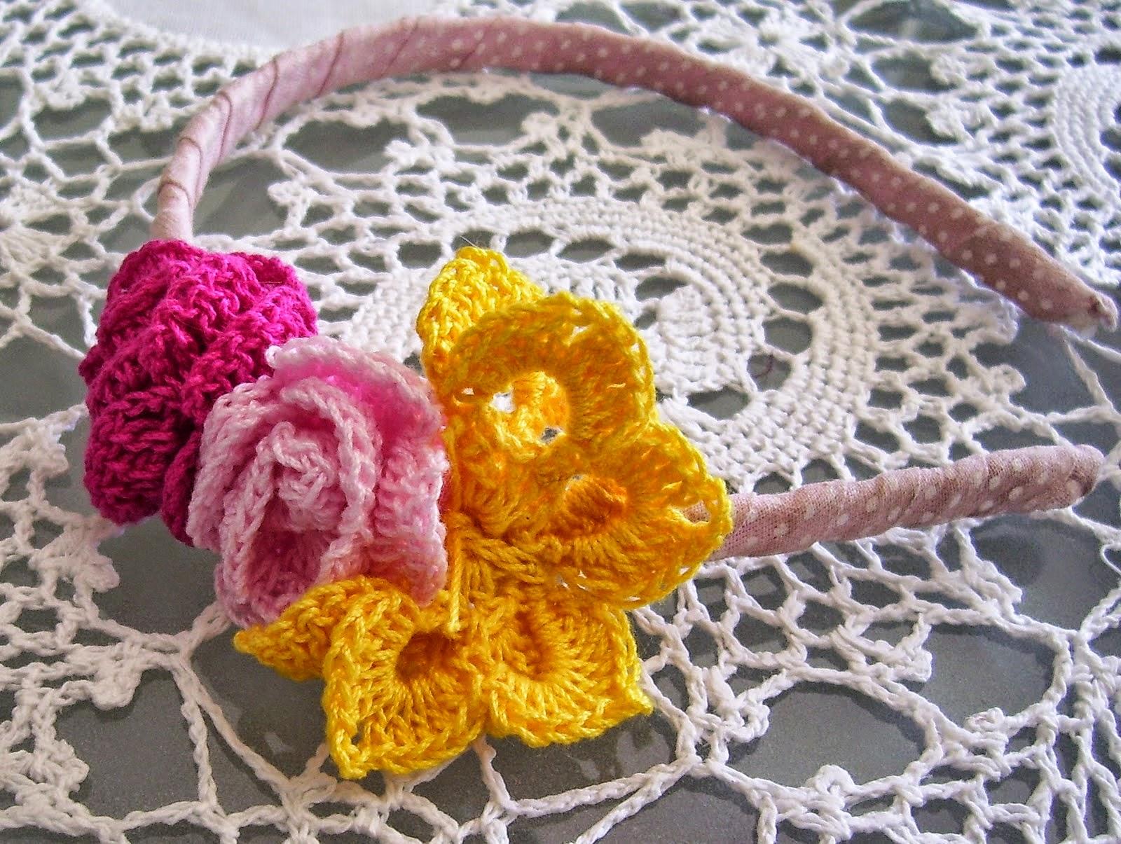 Flores y mariposas para decorar tu cabello - con patrones | Crochet ...