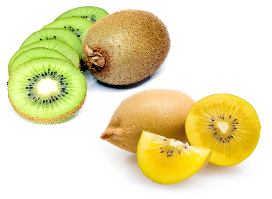Buah Kiwi Gold dan Hijau