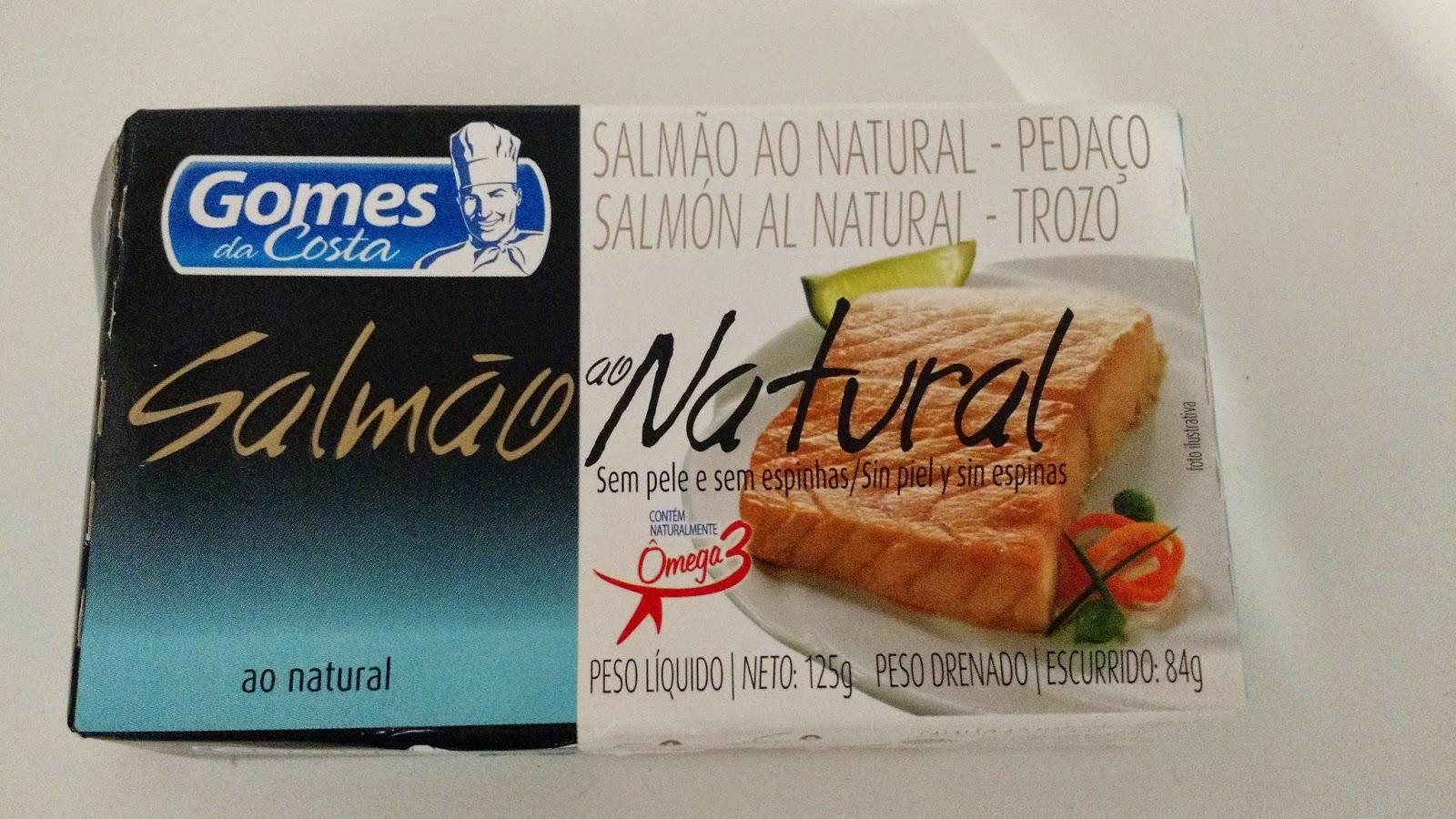 salmão ao natural