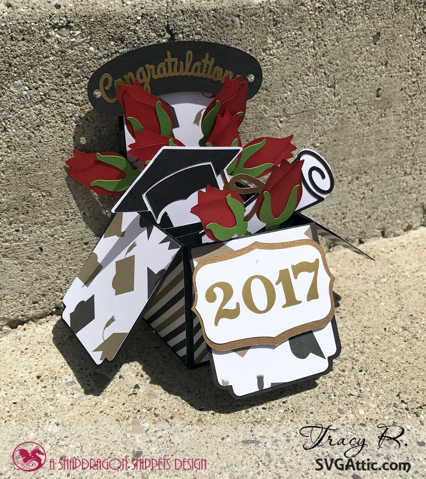 Graduation Card Box With Roses Idea Closet