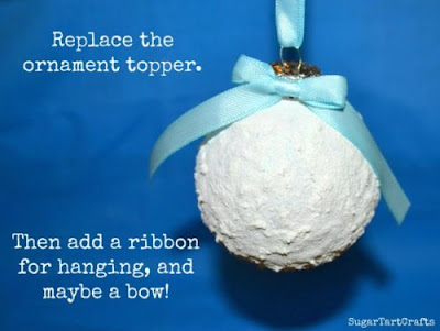 DIY Snow-Tex Snowball Ornaments Tutorial