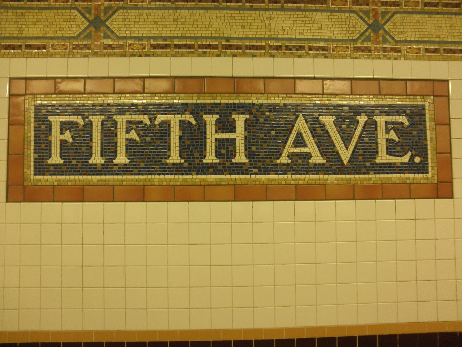 My Walking Pictures: Subway Art at the Fifth Avenue/59th St. Station