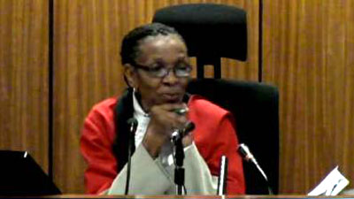 Jaji Thokozile Matilda Masipa aliyetoa hukumu ya Oscar Pistorious