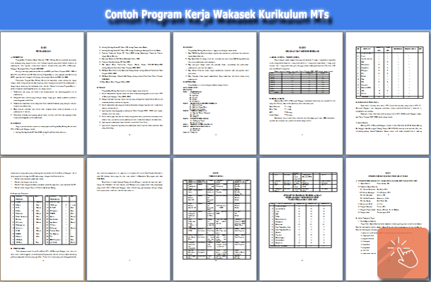 Contoh Program Kerja Wakasek Kurikulum MTs