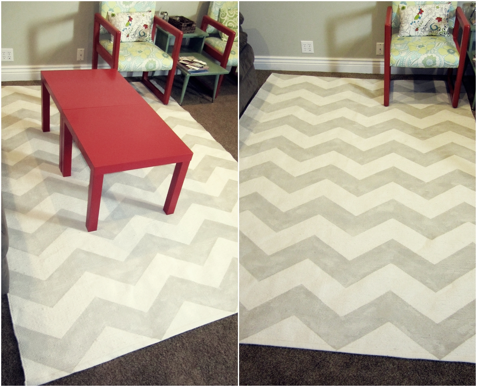 smartgirlstyle how to paint a rug (chevron) -