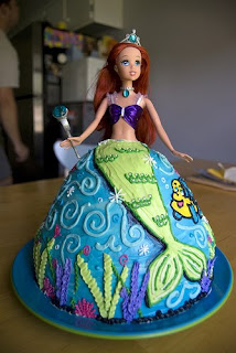 Perfect Ariel Birthday Cake