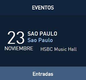 David Bisbal GiraTu y Yo en Brasil, HSBC Music Hall, Sao Paulo
