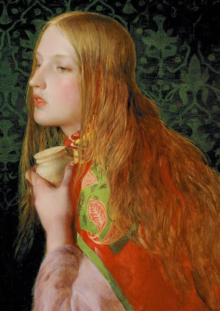 Mary Magdalene, victorian painting,cute girl