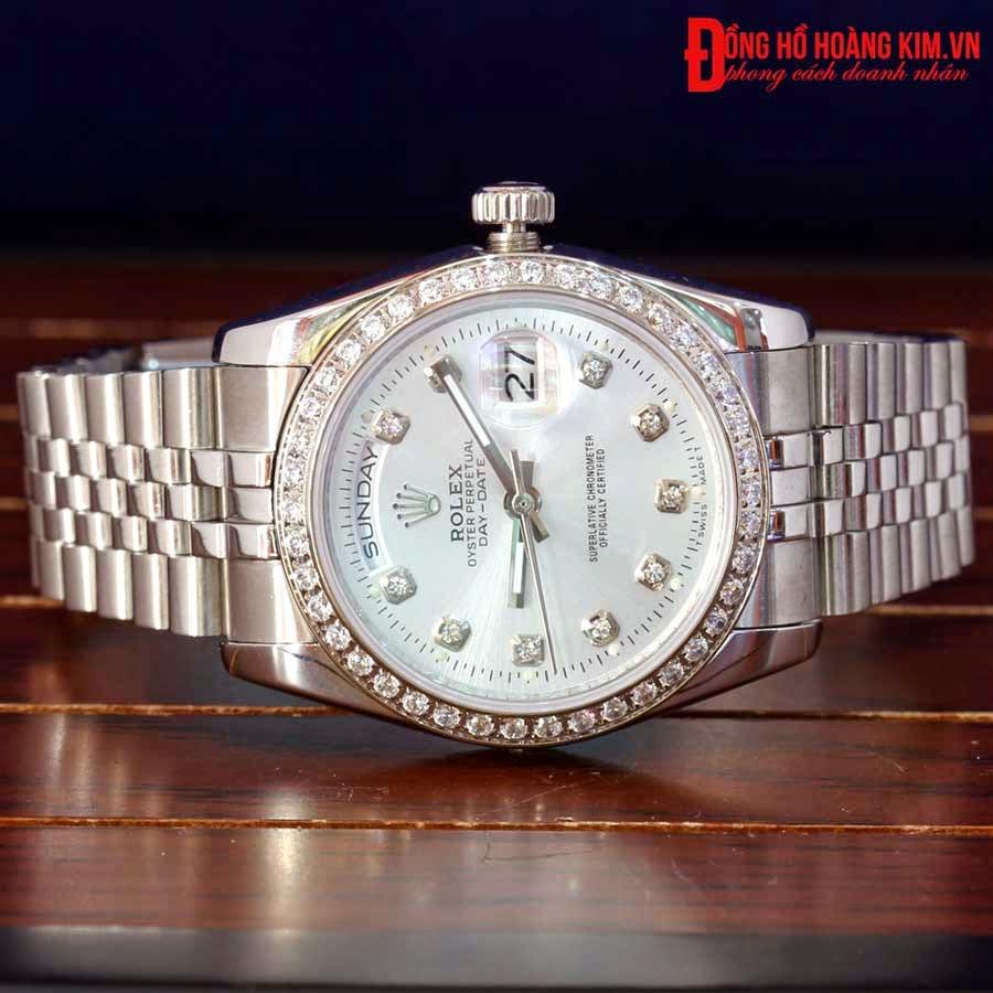 Đồng hồ rolex mạ bạc