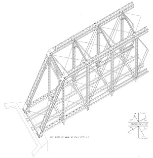 free model railroad plans, pratt, truss bridge
