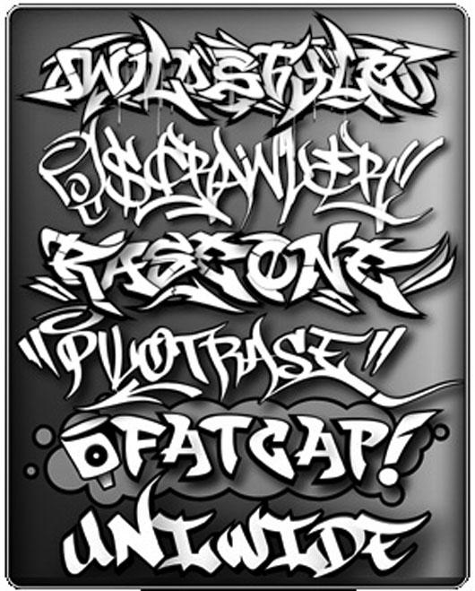 Graffiti Styles Digital 3d Letters