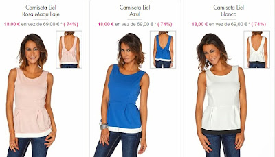 Camiseta de tirantes para mujer modelo Liel