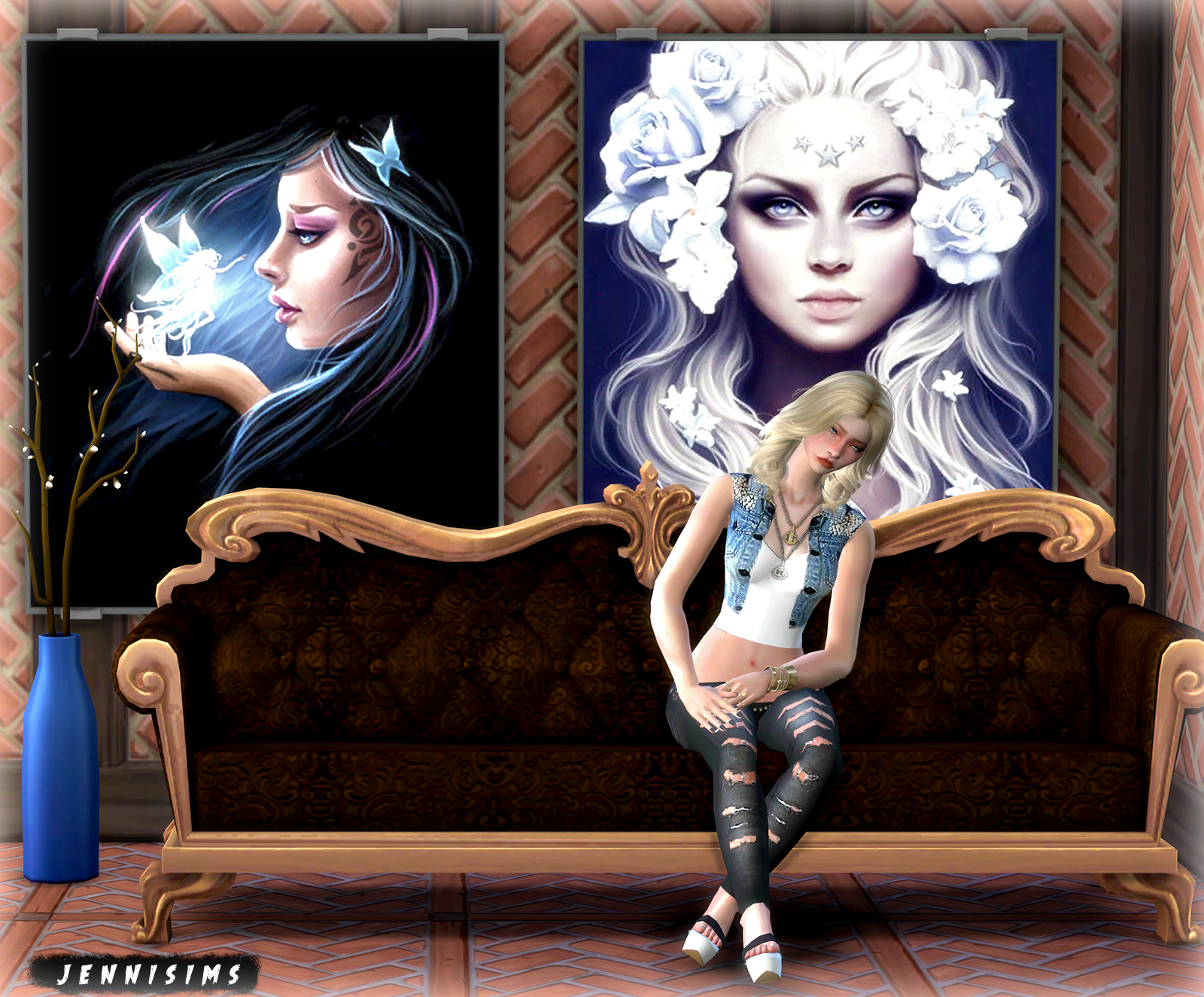 jennisims downloads sims 4 painting mystery party 9 designs