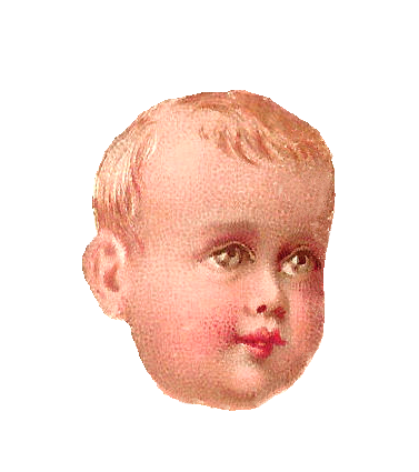 Antique Images: Free Baby Clip Art: Antique, 1879 Victorian Scrap ...