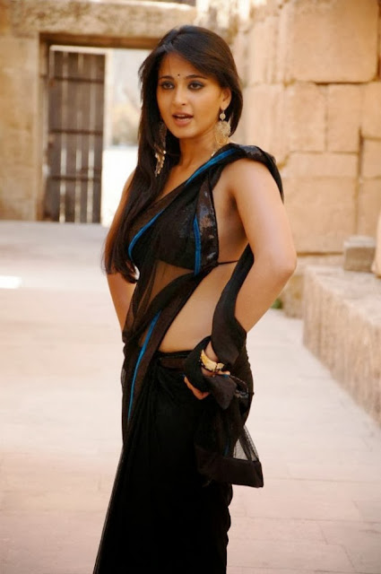 Anushka In Black Saree