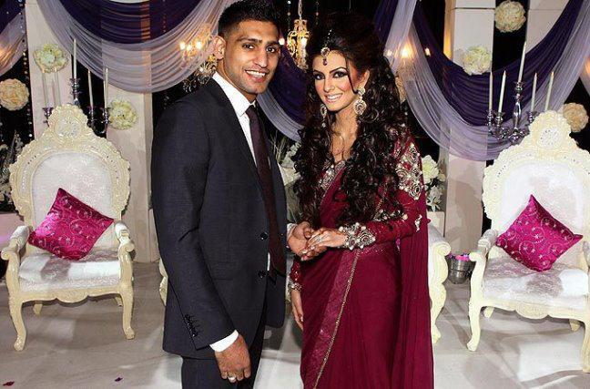boxer amir khan and faryal makhdooms engagement picture