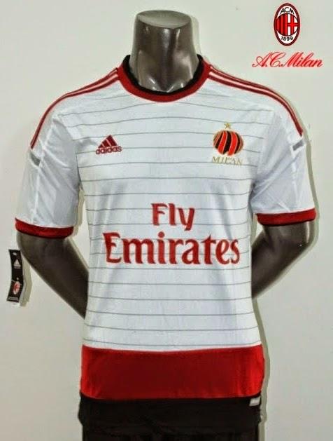 Gambar Baju Kaos Jersey Bola AC Milan Away 2014 - 2015 56