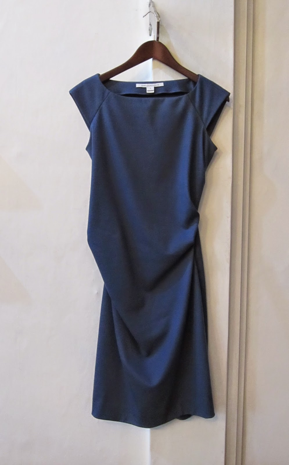 Diane Von Furstenberg Blue Wool Dress