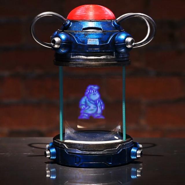 stormtrooper mega man light capsule hologram replica by andrew butterworth. Black Bedroom Furniture Sets. Home Design Ideas