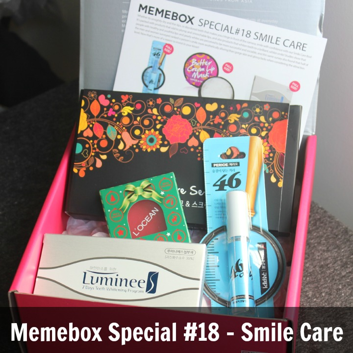 Memebox Special Edition #18: Smile Care