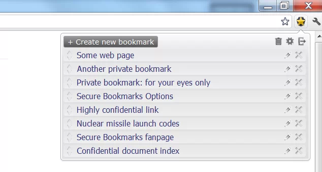 Secure Bookmarks poner contraseñas a tus favoritos en Google Chrome