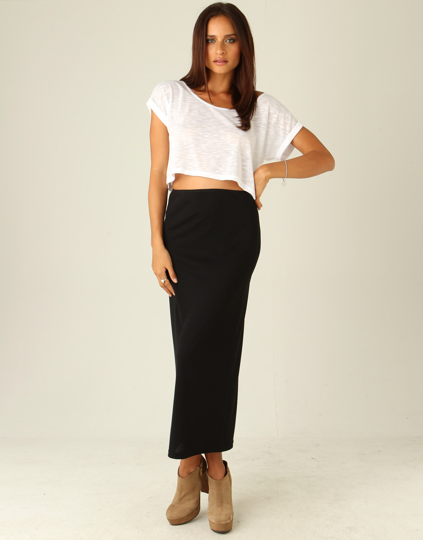 Long tight black maxi skirt – Modern skirts blog for you