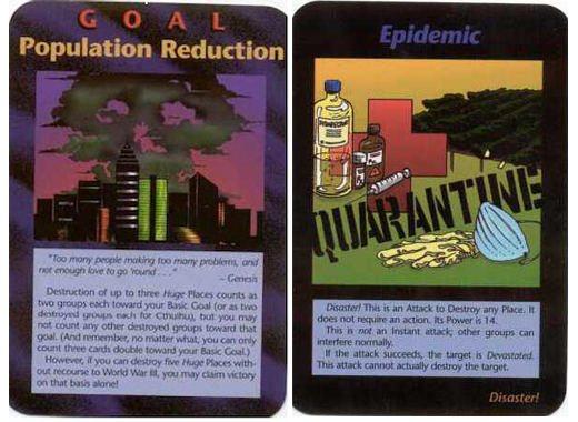 Illuminati card population reduction