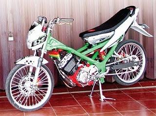 Modifikasi Motor Satria F