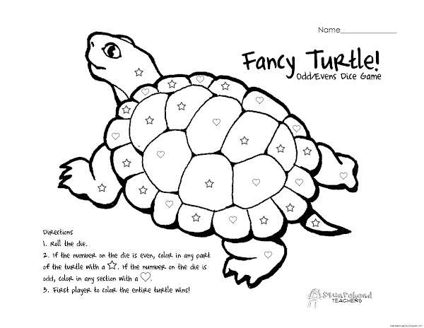 Turtle Color by Number Printables